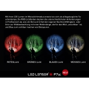 LINTERNA LED LENSER P7QC 4 COLORES