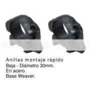 ANILLAS DESMONTABLE WEAVER ,30mm BAJAS