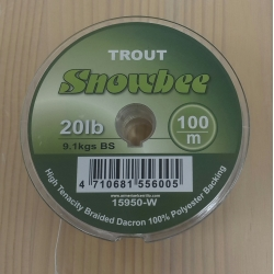 BACKING SNOWBEE TROUT 100m 20lb 9,1kg