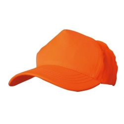 GORRA NARANJA FLUOR 5 PANELES REGULABLE