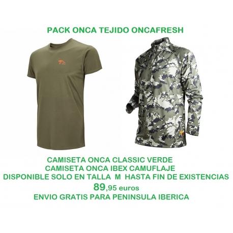 PACK ONCA CAMISETAS IBEX Y CLASSIC M