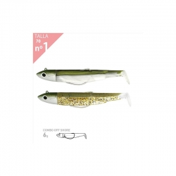 BLACK MINNOW 70 DOBLE COMBO OFF SHORE 6gr KAKI-KAKI PAILLETE