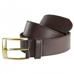 CINTURON SWEDTEAM LEATHER MARRON