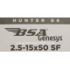 VISOR BSA GENESYS G6 2,5-15x50 SF HUNTER