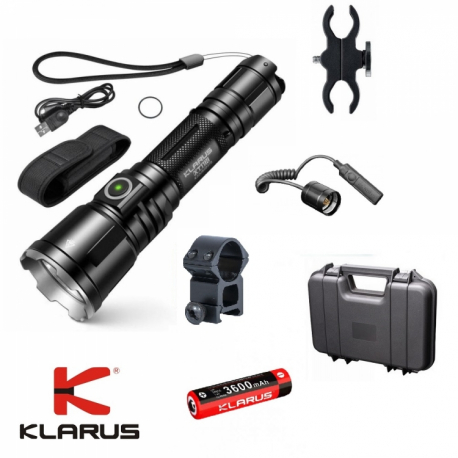 LINTERNA KIT CAZA KLARUS LXT11X LED 3200
