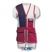 CHALECO 52 RED TRAP CBC BLANCO ROJO